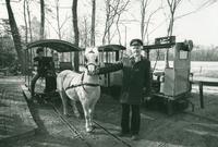 Johan Montenberg voor zijn Ponytram